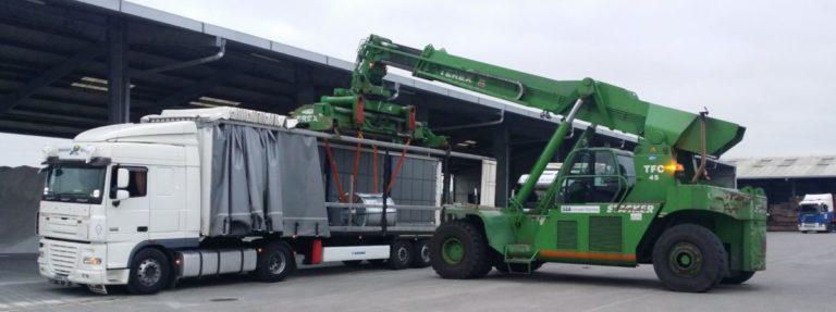 Transport de bobines d'acier